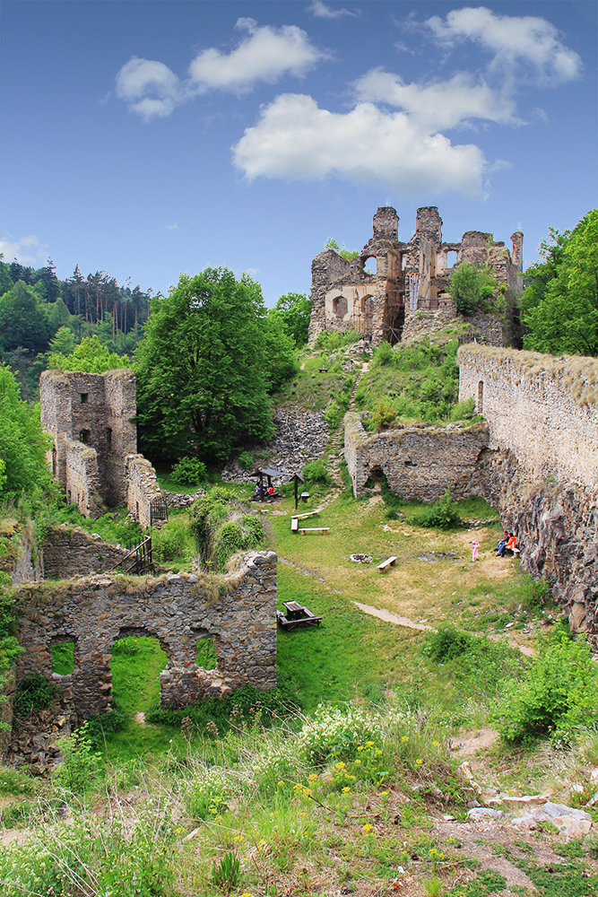Ruin of castle Dívčí Kámen